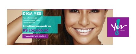 YES ! COSMETICS na Expo Franchising ABF RIO 2018, de 27 a 29.09