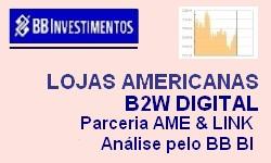 LOJAS AMERICANAS e B2W DIGITAL Parceria Ame e Linx - Análise: BB Investimentos
