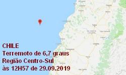 TERREMOTO de Magnitude 6,6 atinge o Chile