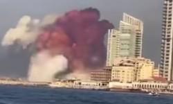 LÍBANO - Explosão na região portuária de Beirute deixa muitos feridos