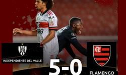 FLAMENGO toma 5 x 0 do DEL VALLE, pela Libertadores, em Quito