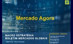 O MERCADO AGORA - 02.10.2020: Com Incertezas fiscais, Volatilidade e Cautela