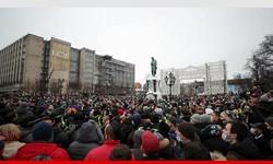 ALEKSEI NAVALNY Manifestantes exigem libertação de oposicionista em Moscou