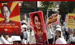 MIANMAR Protestos intensos e manifestações de rua contra militares golpistas