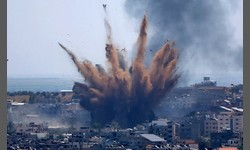 TROPAS DE ISRAEL na fronteira da FAIXA DE GAZA